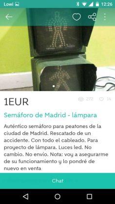 SEMÁFORO DE MADRID-LÁMPARA