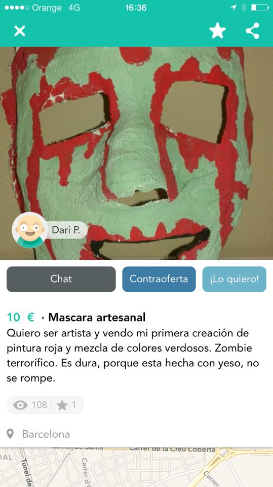 Mascara artesanal