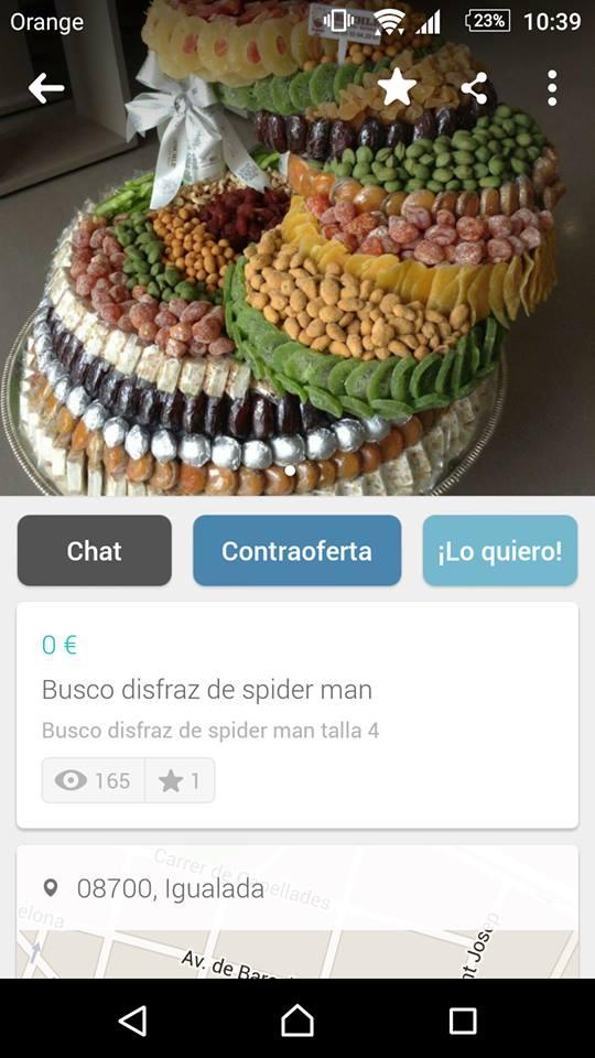 Busco disfraz de spiderman