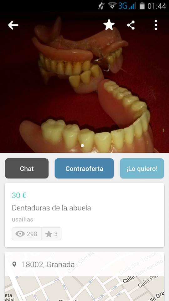 Dentaduras de la abuela
