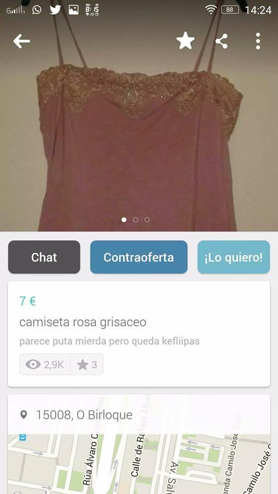 Camiseta rosa grisaceo