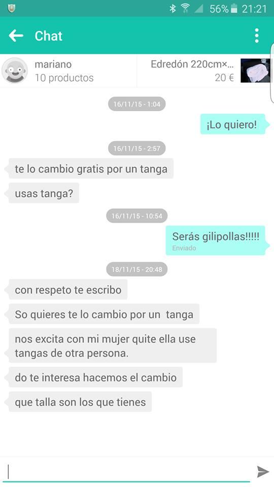 Chat Mariano edredón por tanga