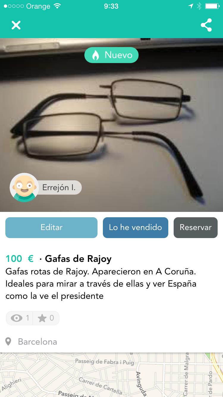 Gafas Rajoy