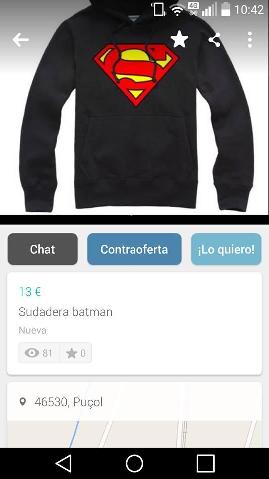 Sudadera Batman nueva