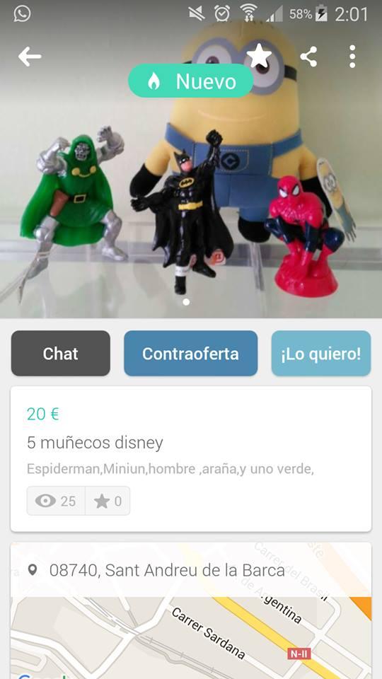 5 muñecos disney