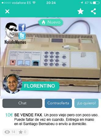 Se vende fax (no solo memes)