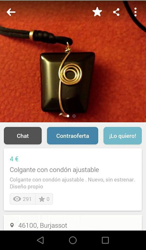 colgante con condón