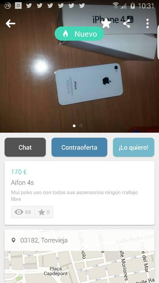 Aifon 4S con todos sus ascensorios