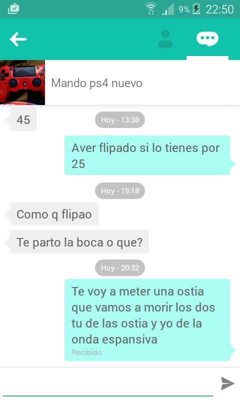 Chat mando PS4 nuevo