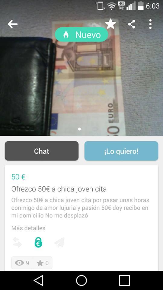 Ofrezco 50€ a chica joven cita