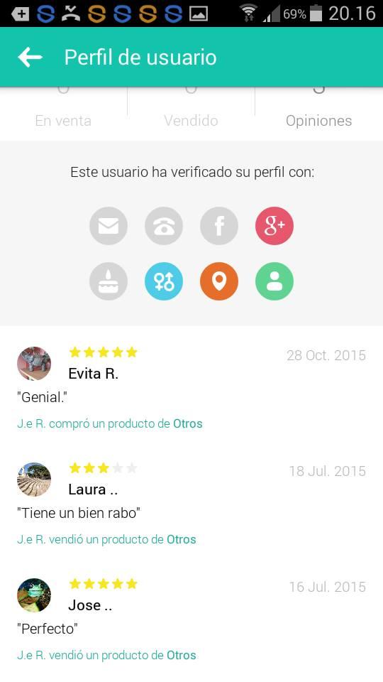 Perfil de usuario Evita tiene buen rabo