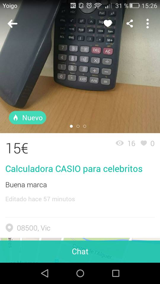Calculadroa CASIO para celebritos