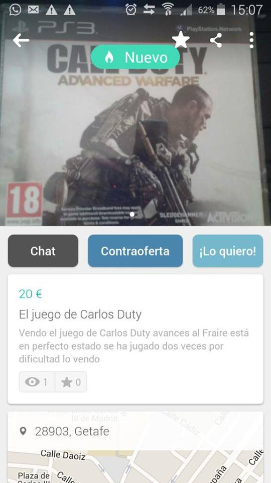 El juego de Carlos Duty