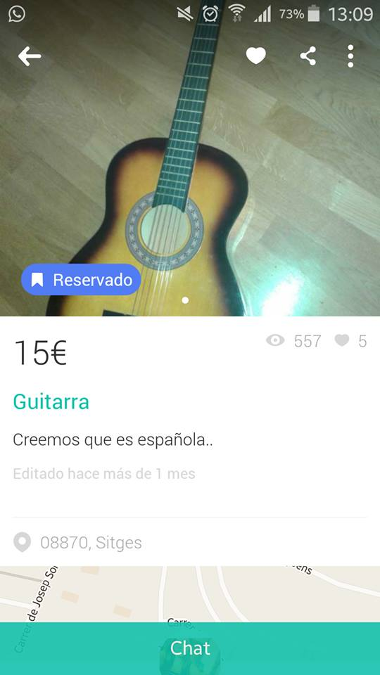 Guitarra creemos q es española