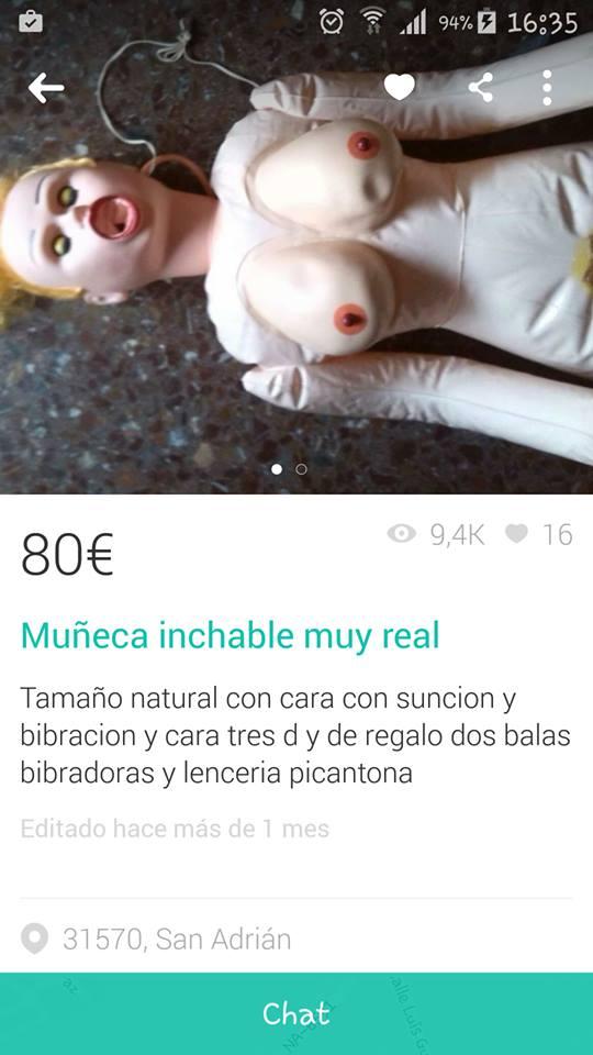 Muñeca inchable muy real
