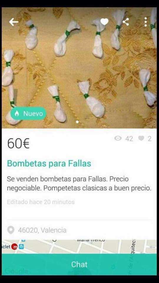Bombetas para fallas