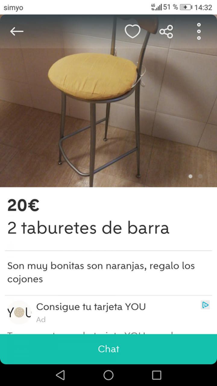 TABURETES DE BARRA
