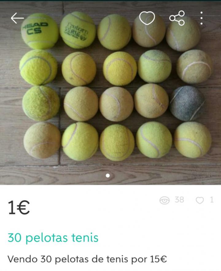 30 PELOTAS TENIS