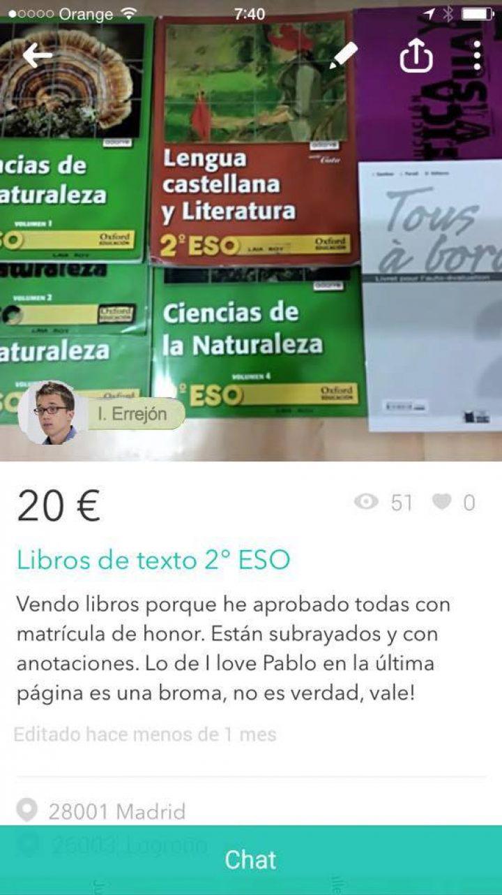 """""""Los candidatos a la Moncloa se venden en Wallapop"""""""