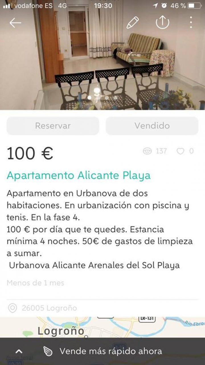APARTAMENTO ALICANTE PLAYA