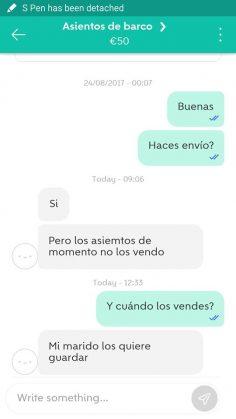 ASIENTOS DE BARCO
