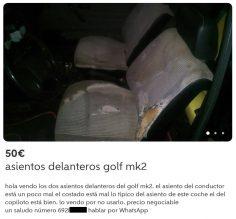 ASIENTOS DELANTEROS GOLF