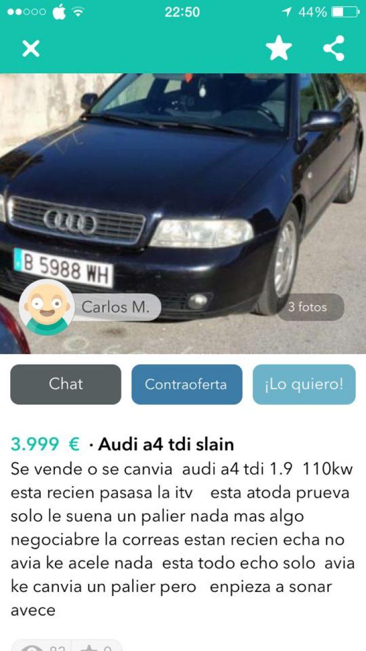 AUDI A4 TDI SLAIN