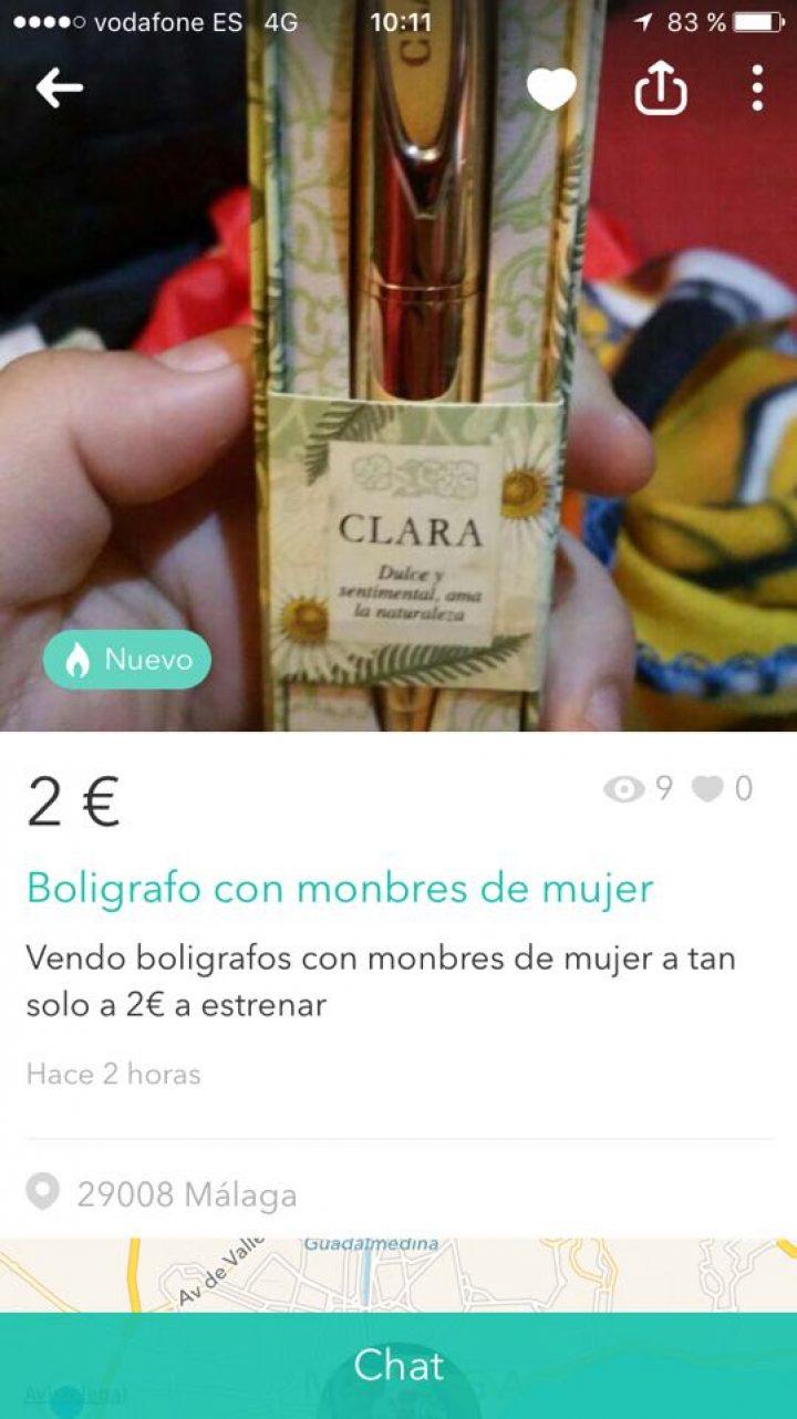 BOLIGRAFO CON MONBRES