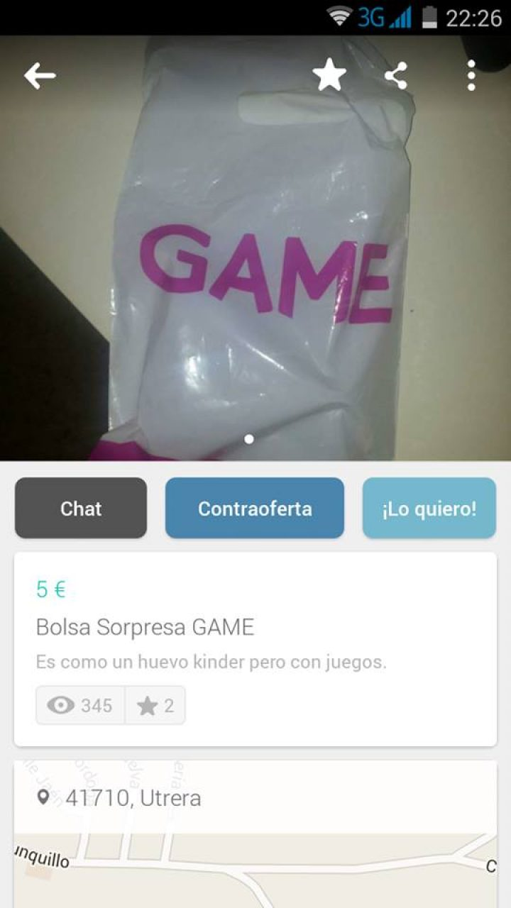 BOLSA SORPRESA GAME