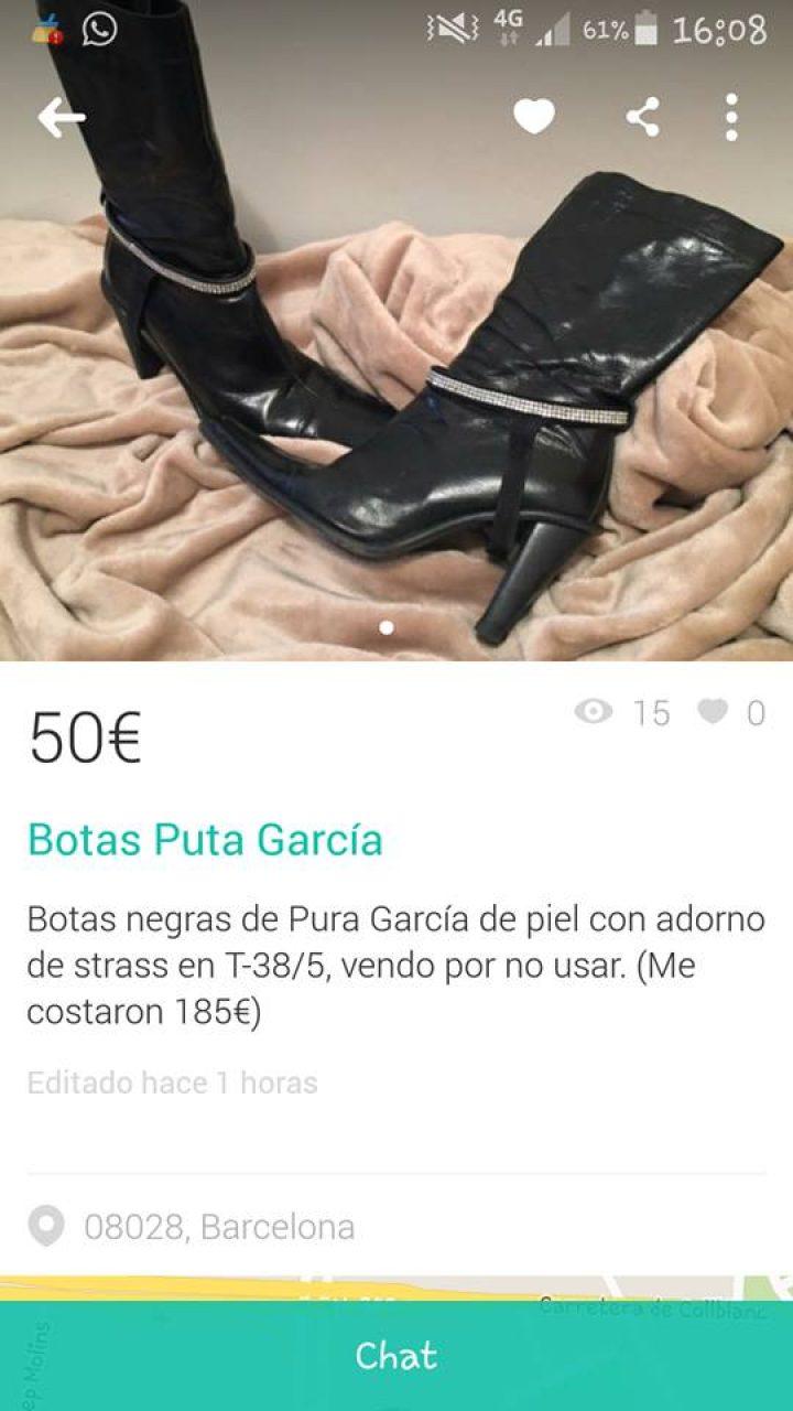 "BOTAS ""PUTA GARCÍA"""