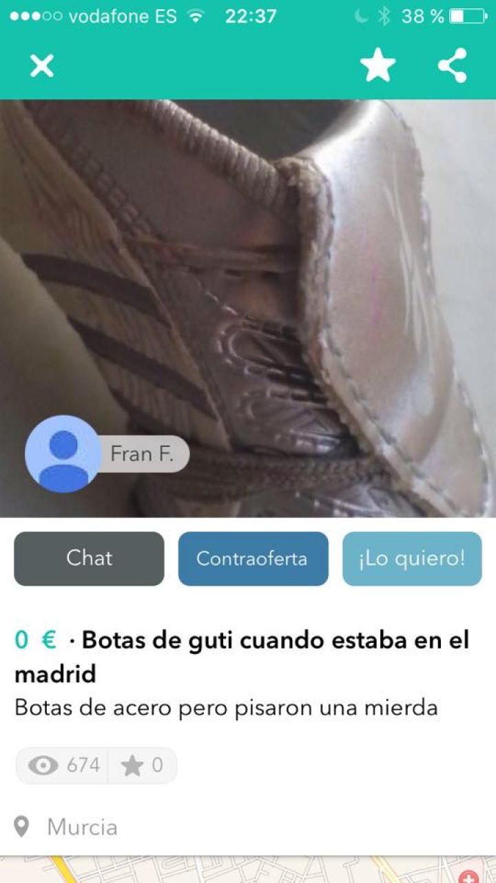 BOTAS DE GUTI CUANDO ESTABA EN EL MADRID