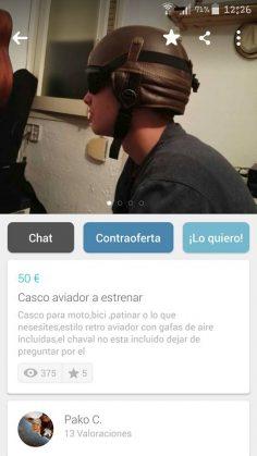 CASCO AVIADOR A ESTRENAR