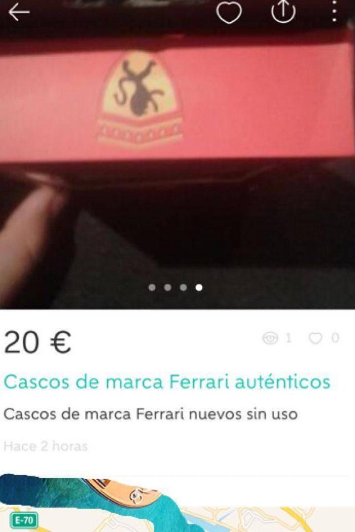CASCOS DE MARCA FERRARI