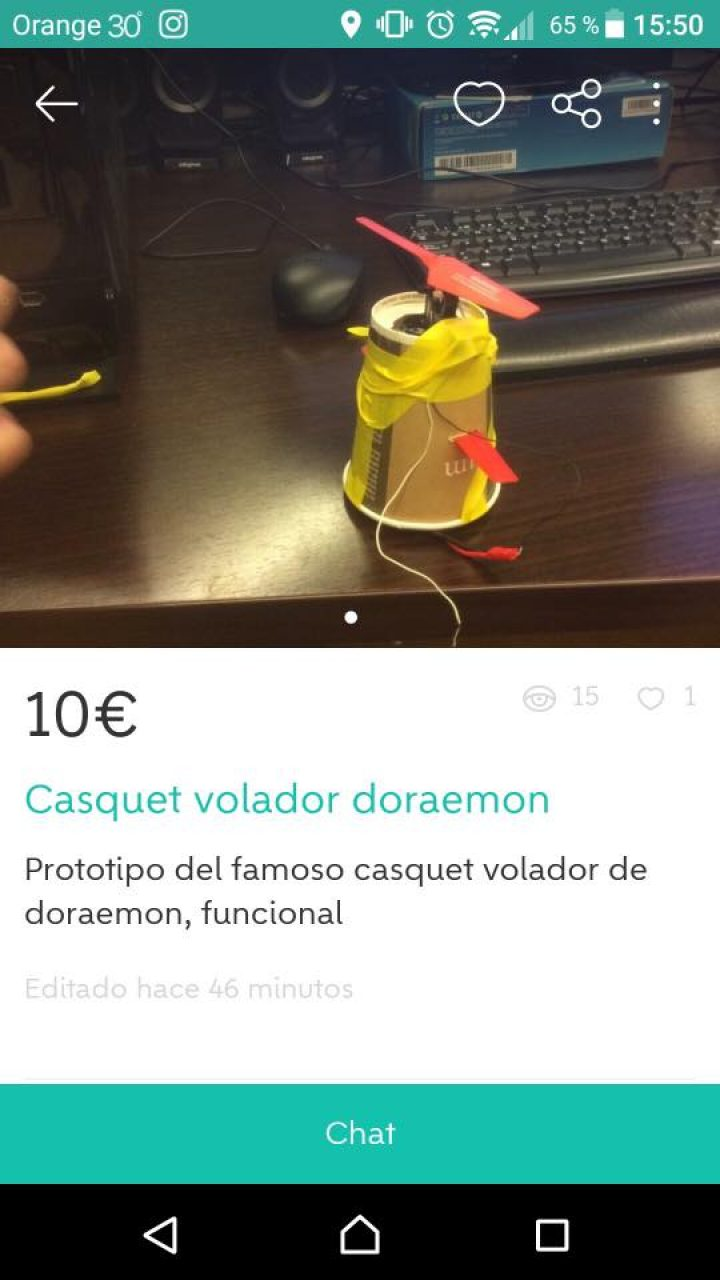 CASQUET VOLADOR DORAEMON