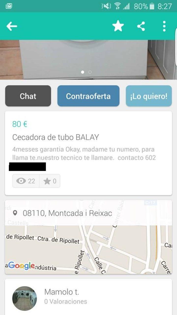 CECADORA DE TUBO BALAY