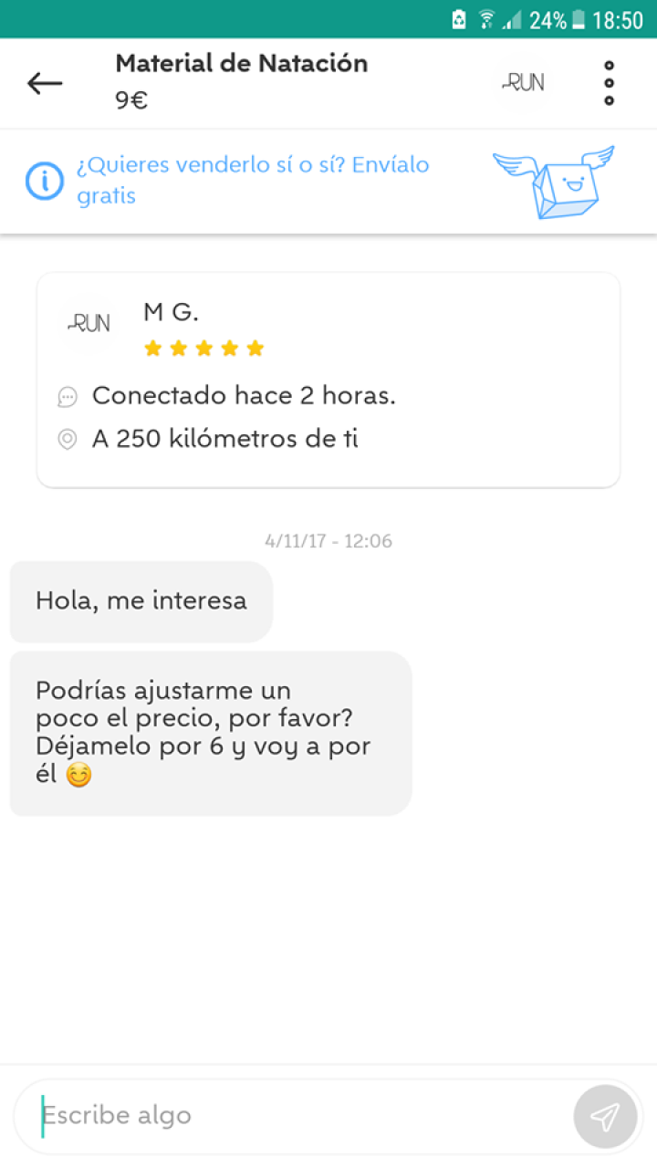 CHAT MATERIAL DE NATACIÓN