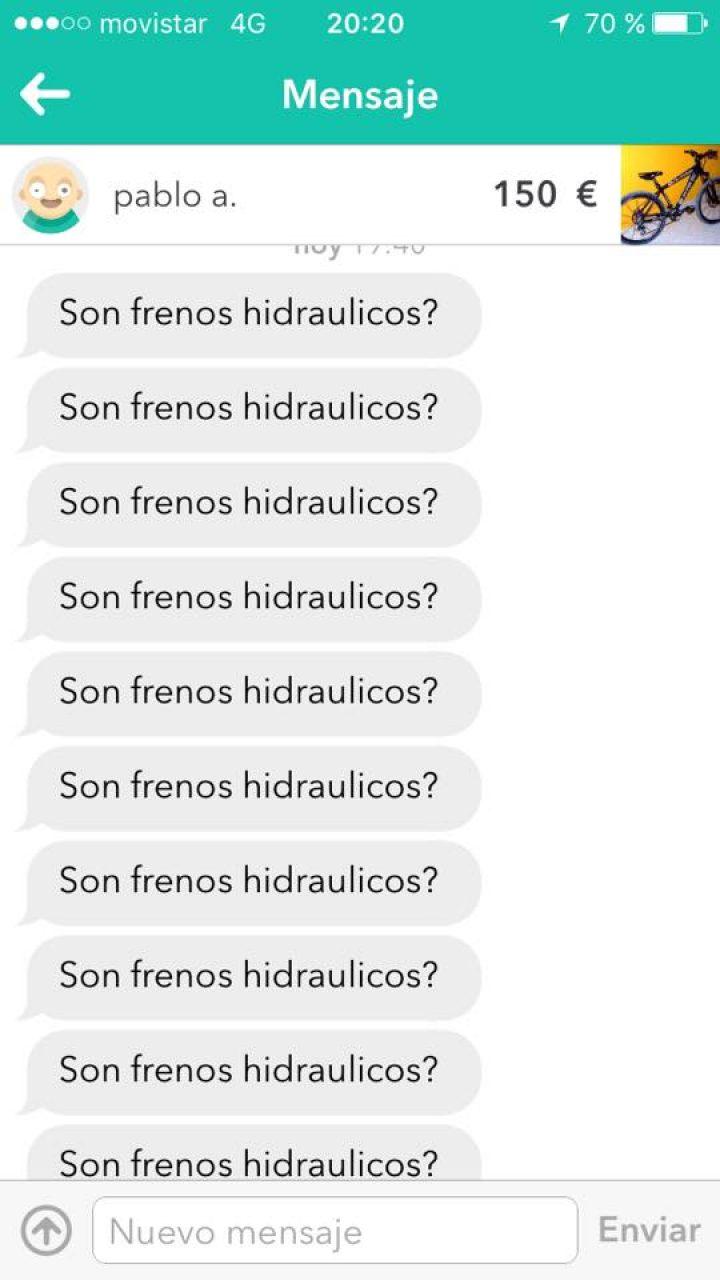 ¿SON FRENOS HIDRÁULICOS?