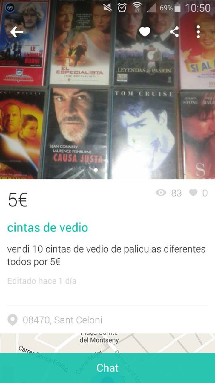"""CINTAS DE """"VEDIO"""""""