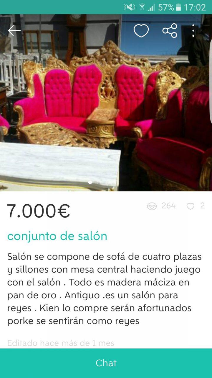 CONJUNTO DE SALÓN