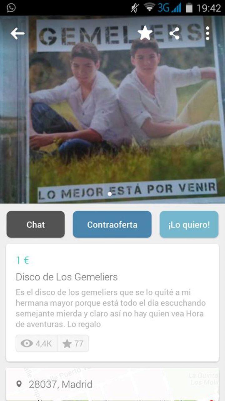 DISCO DE LOS GEMELIERS