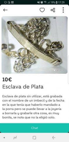 ESCLAVA DE PLATA