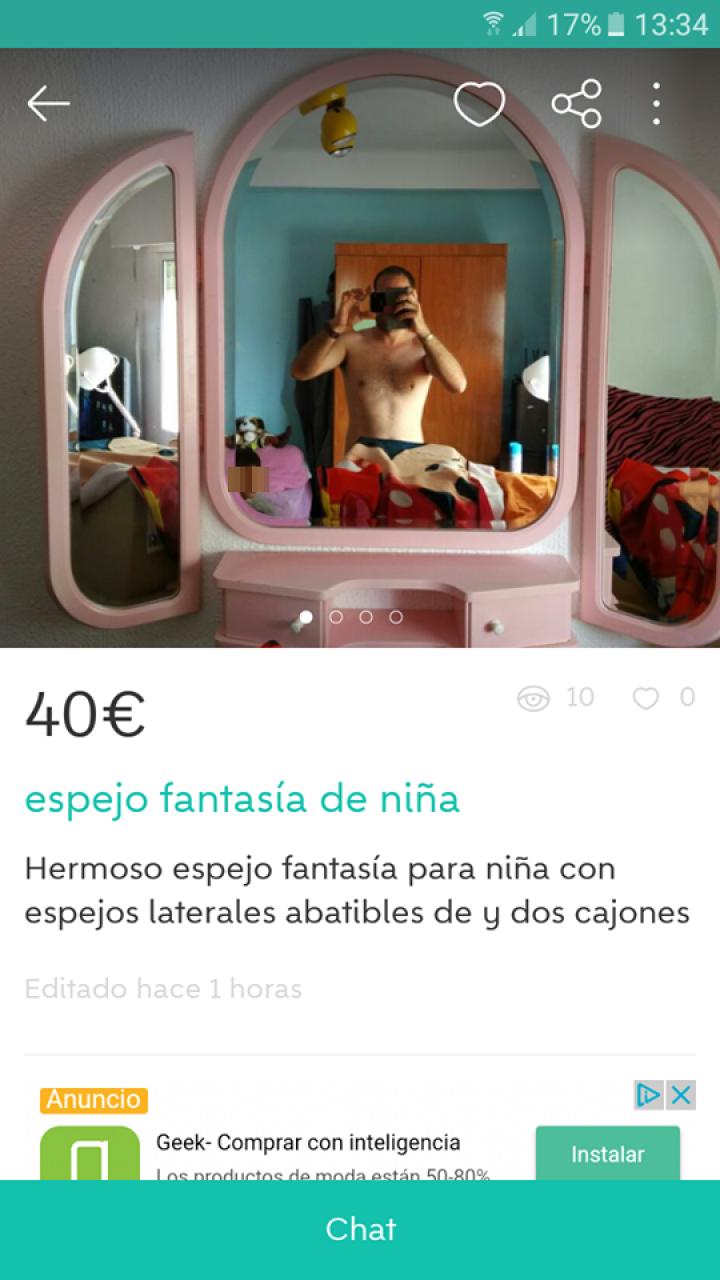 ESPEJO FANTASÍA DE NIÑA