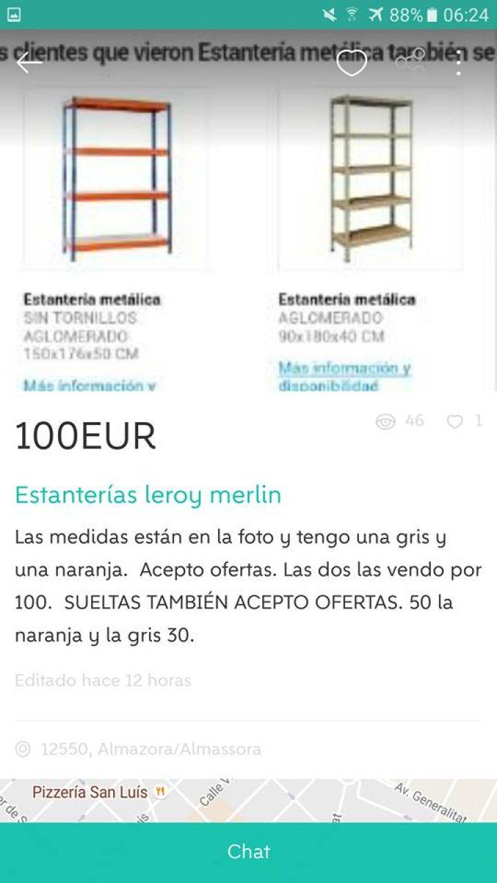 ESTANTERÍAS LEROY MERLIN