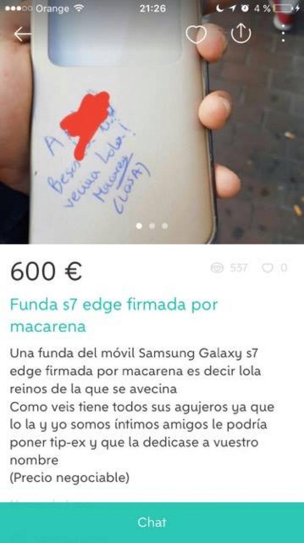 FUNDA FIRMADA POR MACARENA