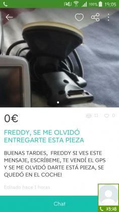 """FREDDY, SE ME OLVIDÓ…"""