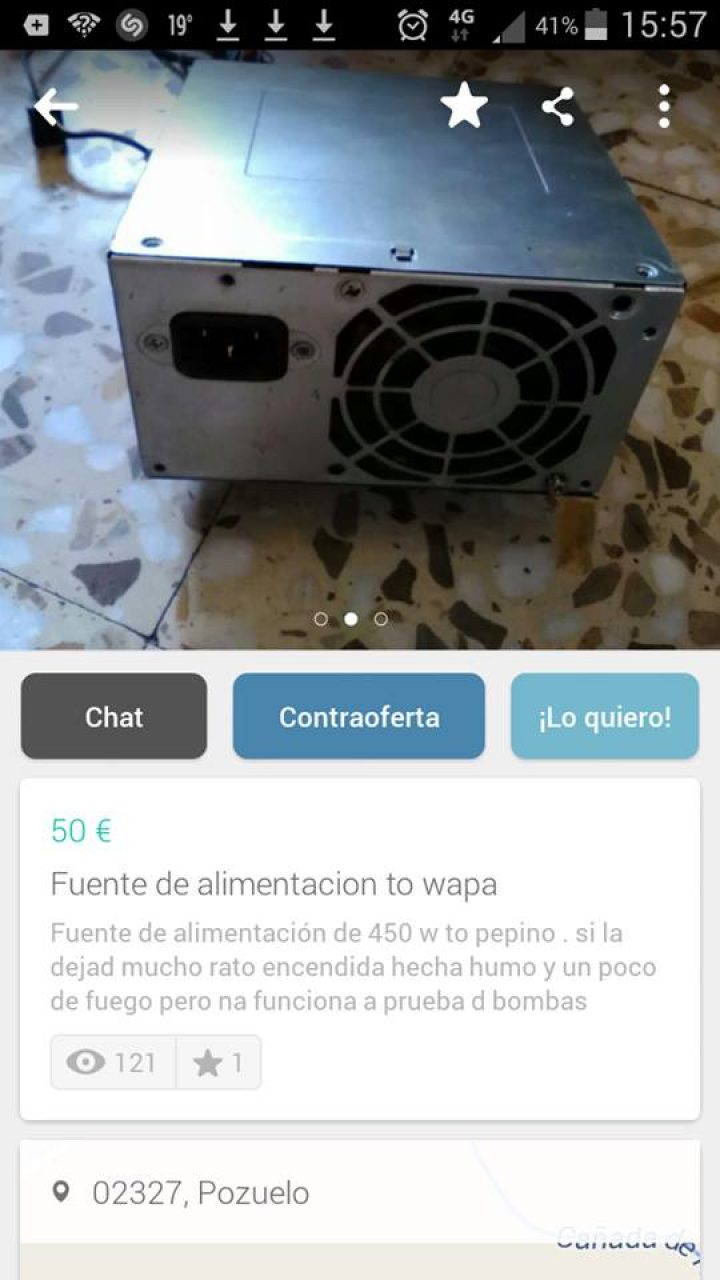 FUENTE DE ALIMENTACIÓN TO WAPA