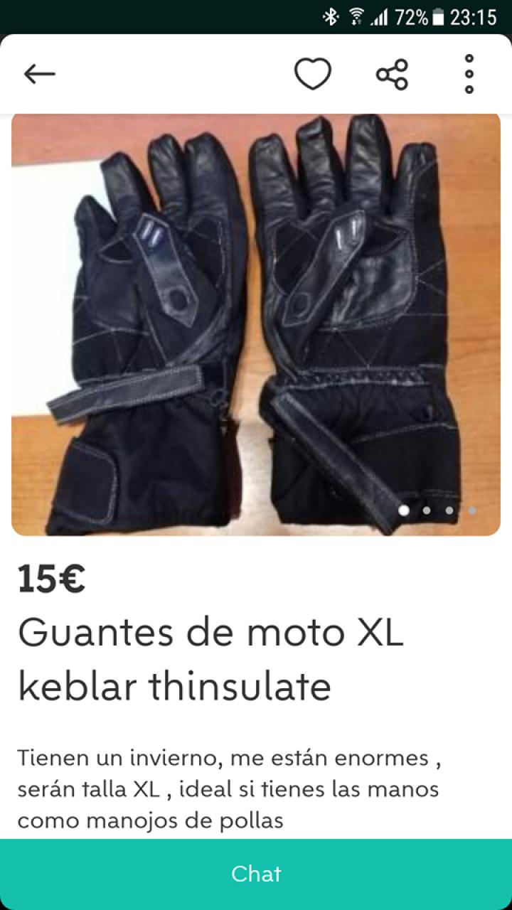 GUANTES DE MOTO XL