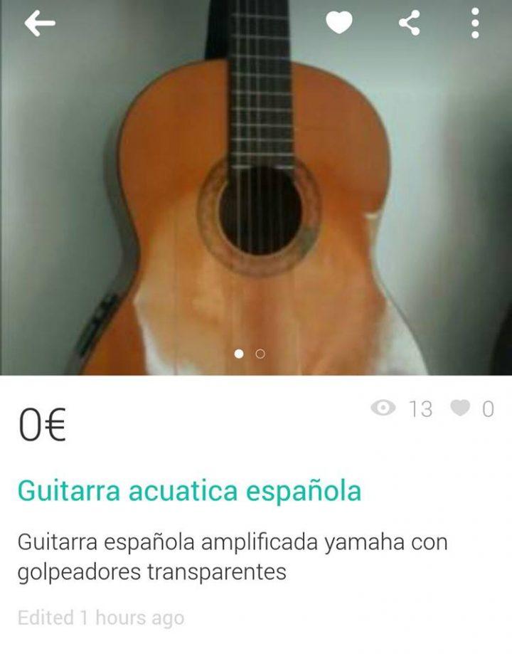 """""""GUITARRA ACUÁTICA ESPAÑOLA"""""""