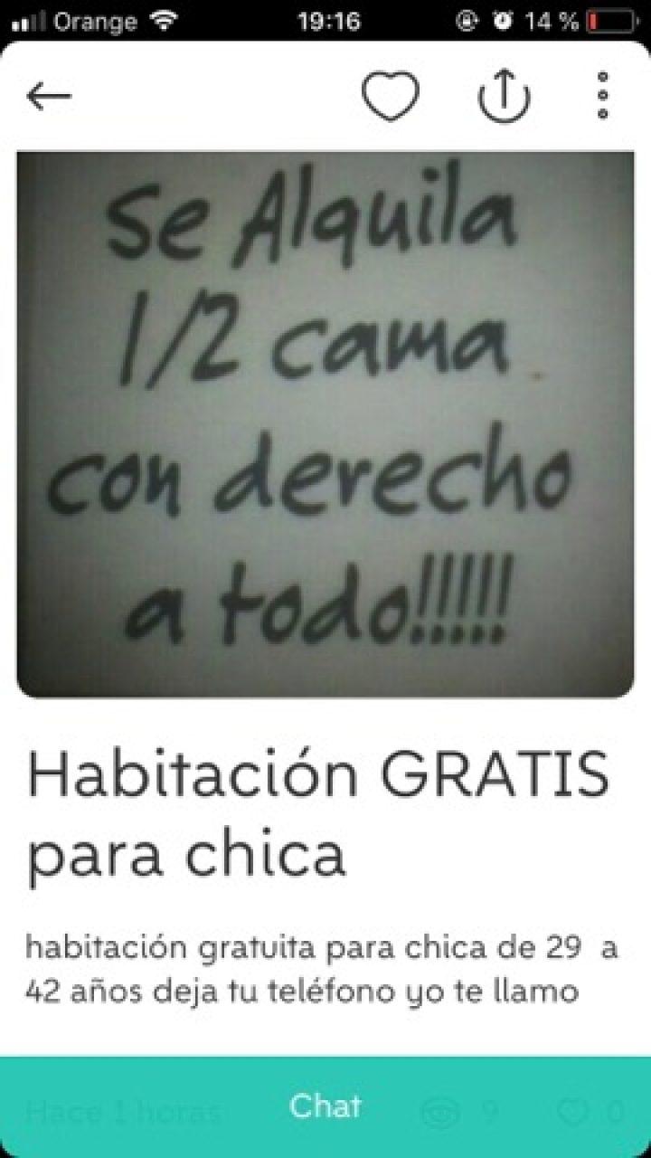 HABITACIÓN GRATIS PARA CHICA