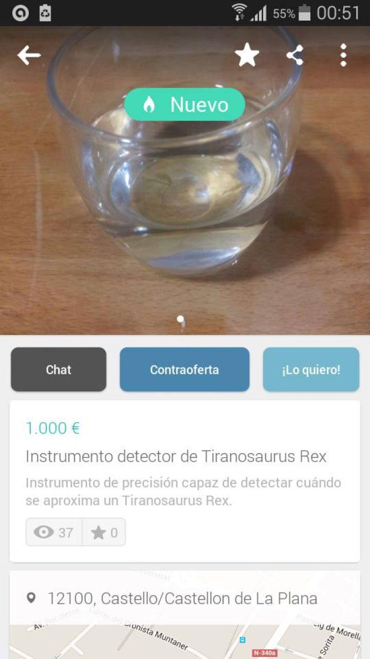 INSTRUMENTO DETECTOR TIRANOSAURIOS REX
